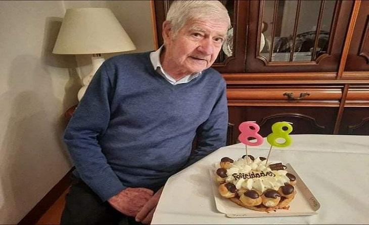 Fa pocs dies Antonio Baraza complia 88 anys i es mostrava així de satisfet // FOTO: Montse