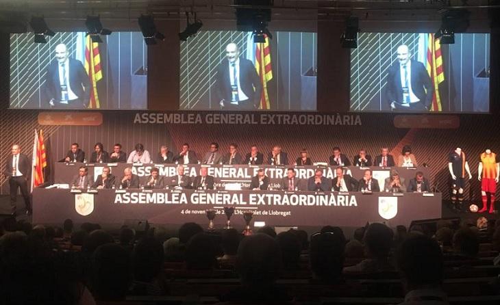 L'Hospitalet 2016: és el més a prop que ha estat l'Assemblea del futbolcat de Barcelona des del 2011 a Sant Cugat // FOTO: FCF