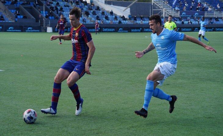 La veterania es va imposar al filial // FOTO: FC Barcelona B