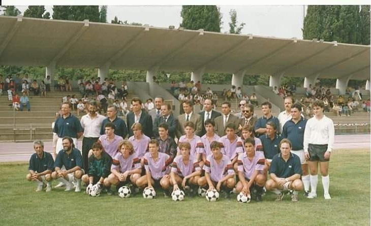 1991: La Ferran Martorell, amb el seu president i amb el gran Agus Mellado al capdavant // FOTO: Jordi Gausach