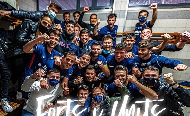 Un gol de Jordi Fabregat davant el Mollerussa es va traduir en el primer triomf dels locals de la mà de Eufemio // FOTO: At Lleida