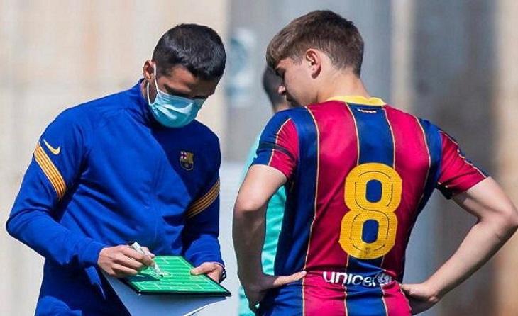 L'entrenador vallesà va passar 4 temporades com escapulat ja hora fa la seva carrera com a blaugrana // FOTO: FC Barcelona