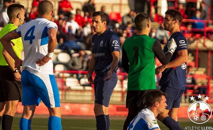 Roger Ezquer Cardona 'Roy' no oblidarà mai el seu debut com a jugador del At Lleida // FOTO: At. Lleida