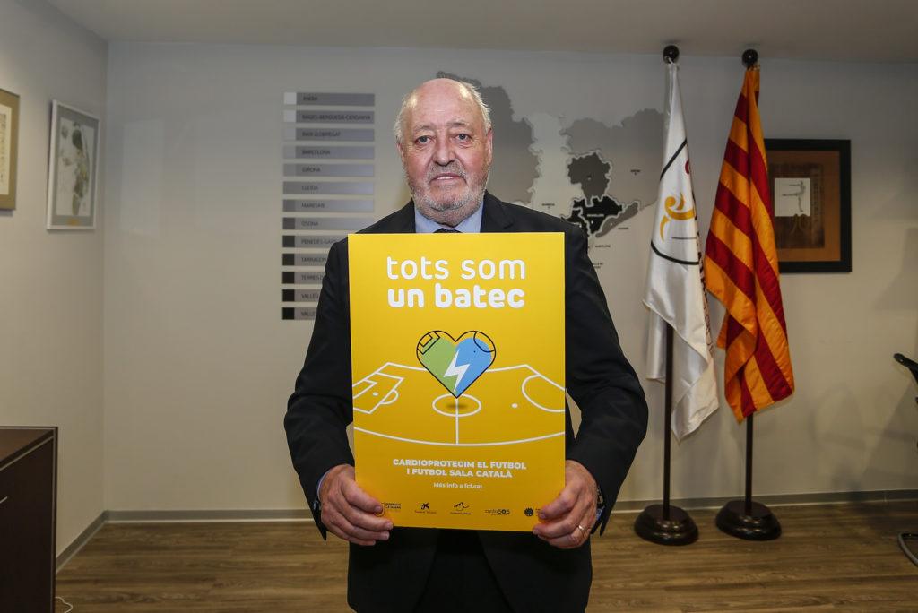 Joan Soteras està de campanya si bé encara queda més d'un any per a les eleccions a la presidència // FOTO: FCF