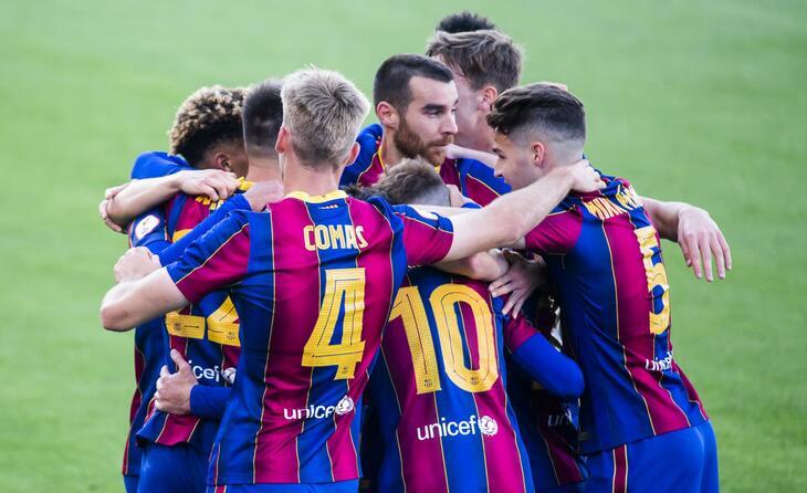 El Barça B, fent pinya de cara als playoff // FOTO: FC Barcelona B