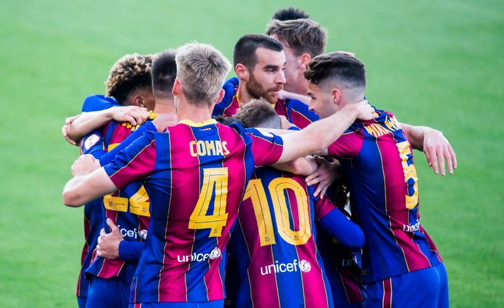 Victòria del Barça B de prestigi del filial  enfront de l'Eivissa encara que per la mínima // FOTO: FC Barcelona
