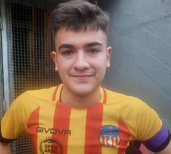 Marc Torrents, capità andreuenc a Mataró // FOTO: UE Sant Andreu