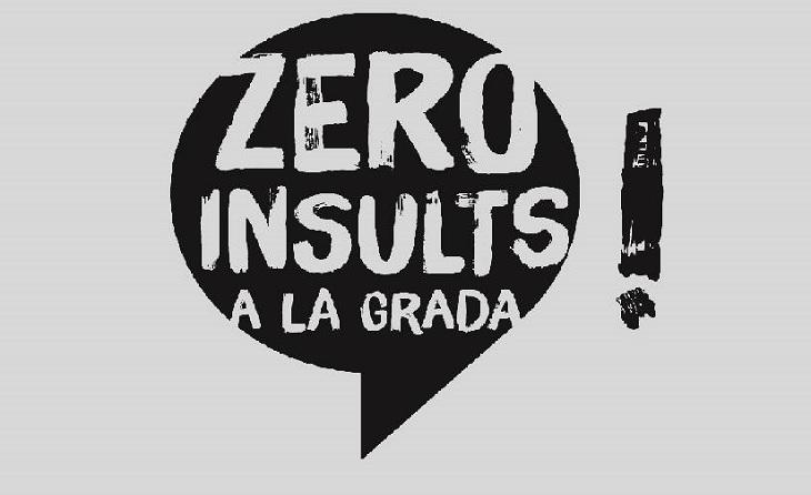 La campanya de sensibilització 'Zero insults a la grada' (i al camp, per descomptat) va començar la temporada 2016-2017 // FOTO: FCF