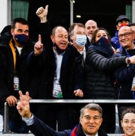 El delegat Bonetti llueix les seves millors gales a Göteborg amb el Barça