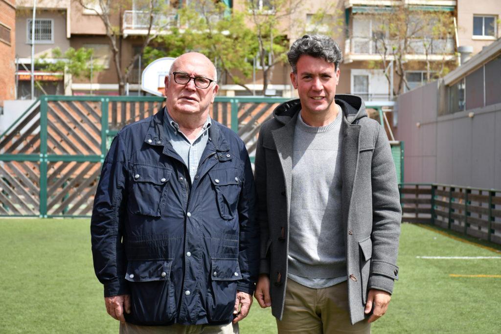 Manuel Dengra amb el vicepresident del Martinenc, David Alonso // FOTO. Dani Falcón