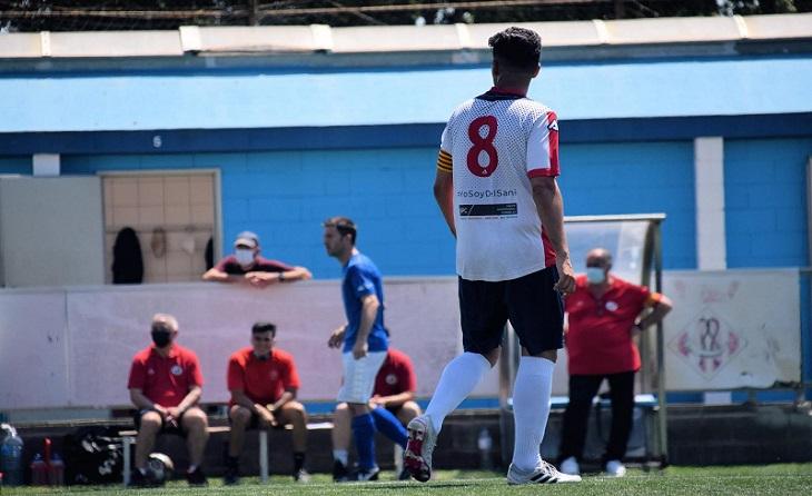 Aquest passat diumenge Javi Jarabo es va acomiadar del futbol actiu encara que seguirà com a entrenador // FOTO: Montse Avilés