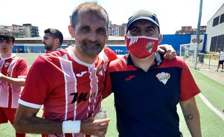 Casu, al costat de Jordi Souto, el seu major valedor en el món del futbol // FOTO: Eduardo Berzosa