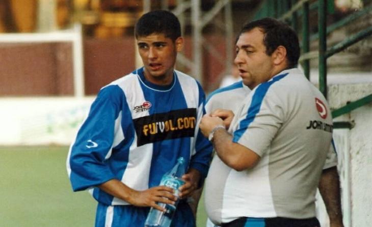 Era juvenil (2001), compartia equip amb Dani Jarque i van guanyar Copa del Rei i la DH // FOTO: Eduardo Berzosa