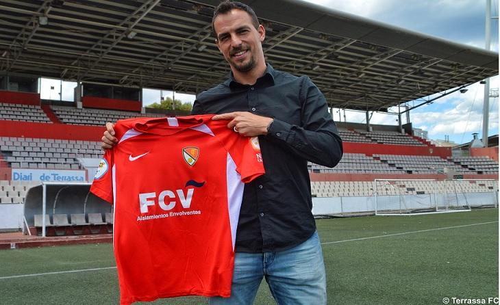 Primera estrena de Jordi López com a màxim responsable tècnic d'una banqueta després de Cornellà // FOTO: Terrassa FC