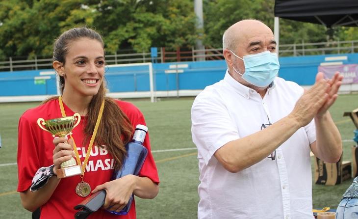 El president de l'entitat colomense, Antonio Morales, vol portar el futbol inclusiu a l'Assemblea de Blanes // FOTO: FE Grama