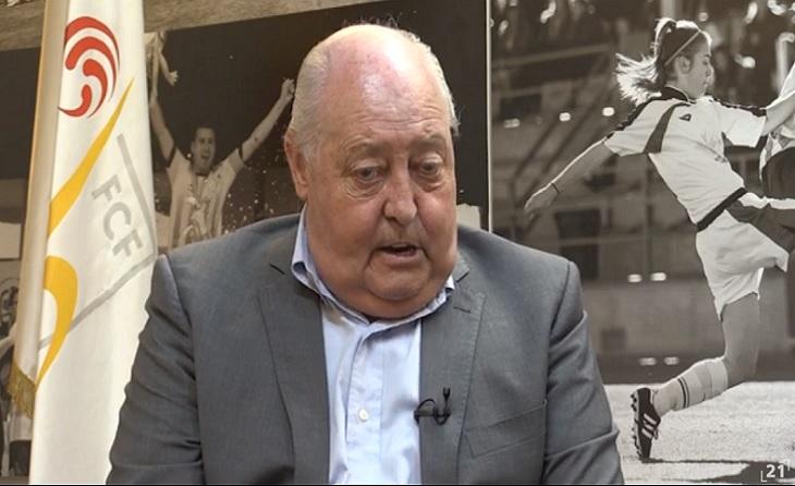 Joan Soteras, president de la Federació Catalana, entrevistat // FOTO: 'Canal21 Ebre'