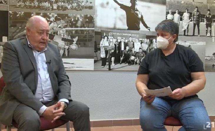 Entrevista al president de la Catalana a Tortosa davant les cambres de 'Canal21 Ebre'