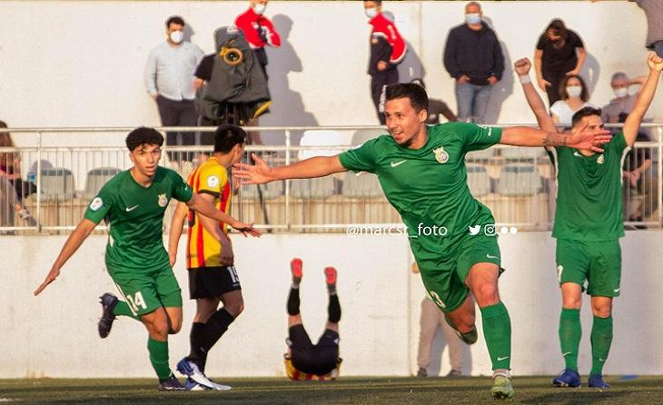 Minut 104: Jugada i gol extraordinaris de Víctor Aliaga que col·loca al Cerdanyola per davant del Sant Andreu // FOTO: @marcsr_foto