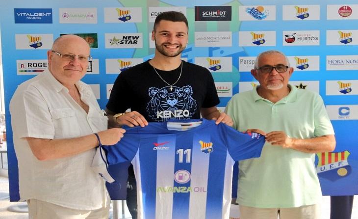 Joel Arimany ja és nou jugador de la UEF procedent del Dep. Aragó // FOTO: UE Figueres