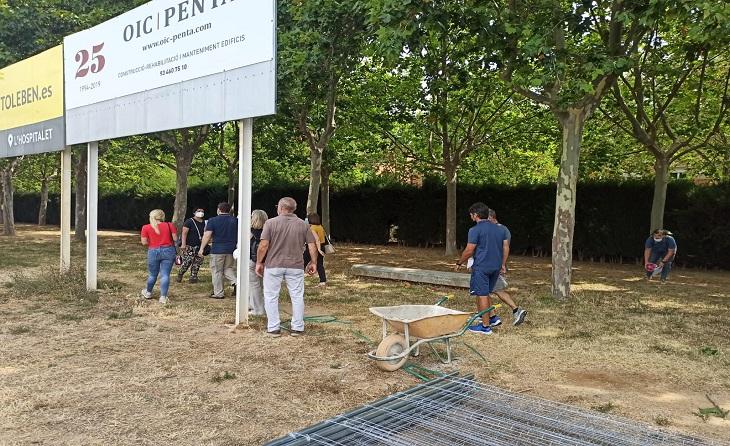 Aquesta primera fase comença per la construcció d'una nova graderia lateral i amb capacitat per a 765 seients // FOTO: AE Prat