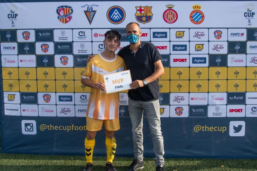 El capità del Badalona Marc Anglès ha estat designat millor jugador de la final // FOTO: THE CUP