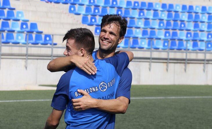 Robusté i Jaume Pascual, experiència i joventut // FOTO: CF Badalona