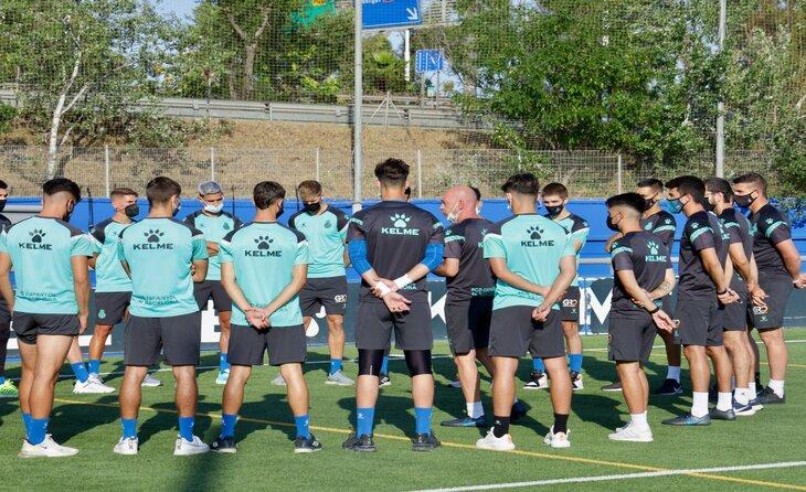 Preparació blanc-i-blava per a la nova temporada 2021-2022 // FOTO: RCD Espanyol B