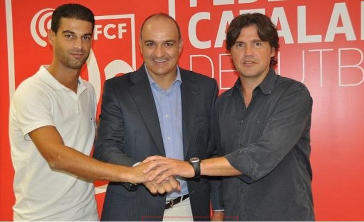 Gerard López va arribar a la Selecció al costat de Roger Garcia i sota la presidència d'Andreu Subies (2014) // FOTO: futbolcatalunya