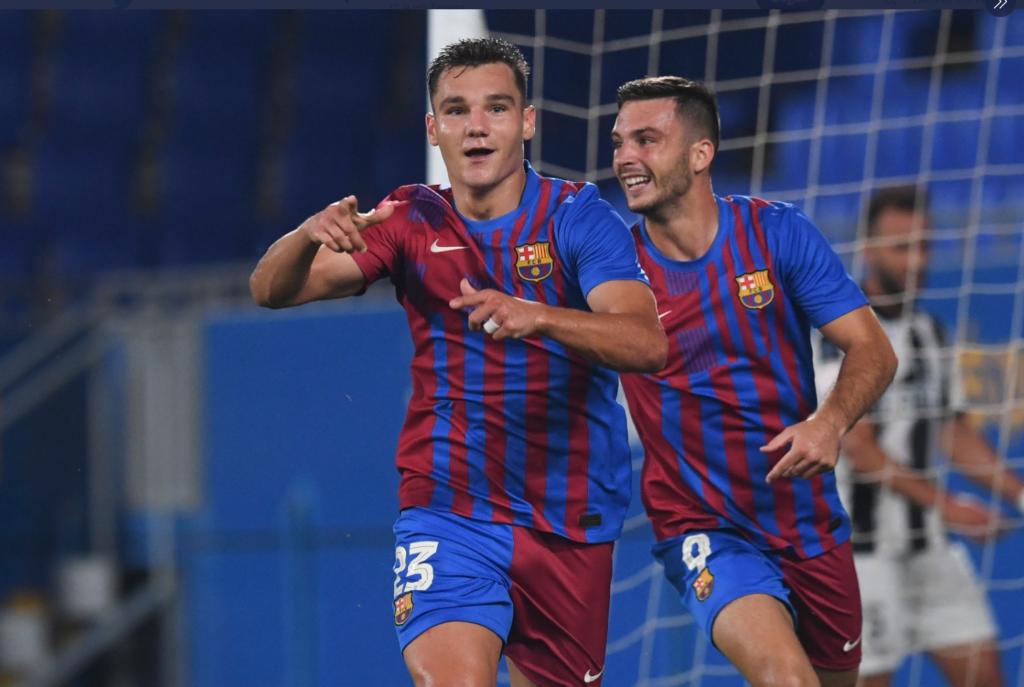 utglà i Rodado van ser els golejadors del Barça B // FOTO: FC Barcelona B
