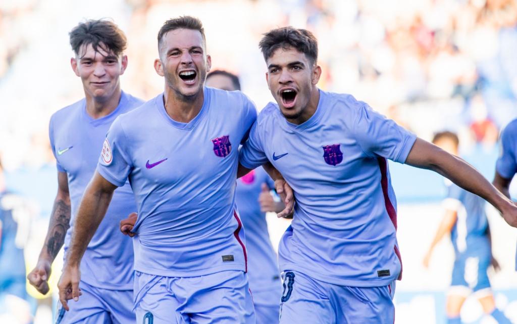Rodado, amb dos gols, va sentenciar el Sabadell // FOTO: FC Barcelona B
