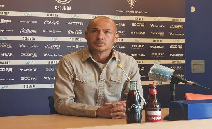 Després de la derrota, Nacho Alfonso va posar el càrrec a disposició del club // FOTO: Jordi Mestres