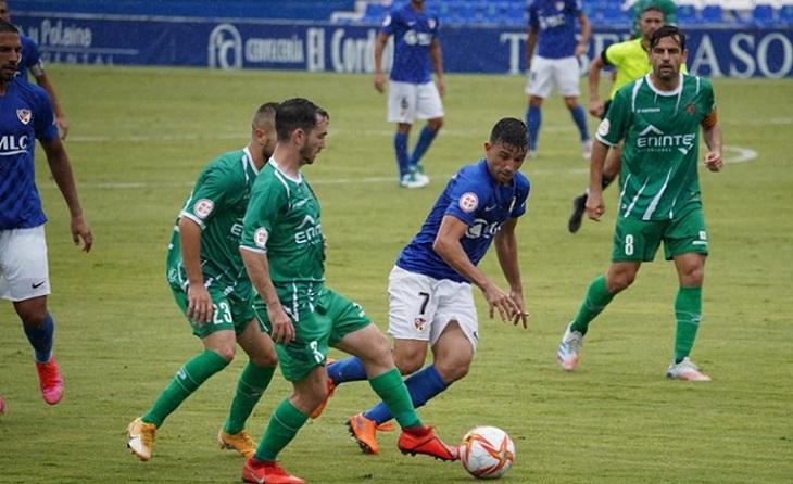 Extraordinària victòria verda amb dos gols de Moha a Linares // FOTO: UE Cornellà