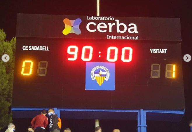 El Sabadell ha perdut els seus últims dos partits a la Nova Creu Alta // FOTO: Jordi Mestres